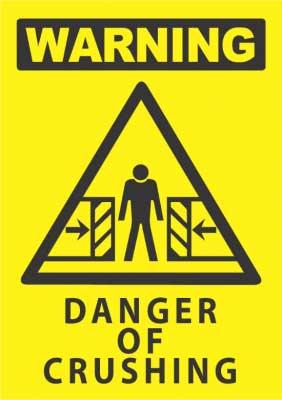danger crushing sign