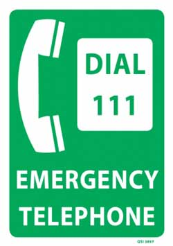 dial 111 sign