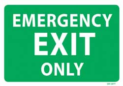 Emergency Exit  Only - PVC sign