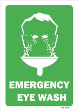 Emergency Eye Wash PVC sign