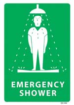 Emergency Shower PVC sign