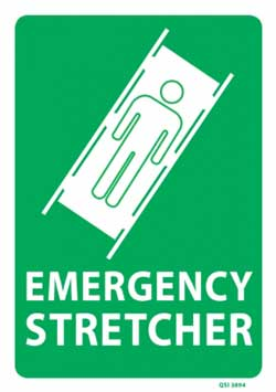 Emergency Stretcher - PVC sign