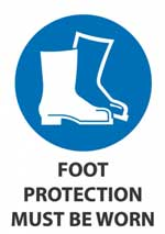 Foot Protection Must Be Worn sig