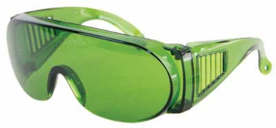 Green Polycarbonate Safety Glasses