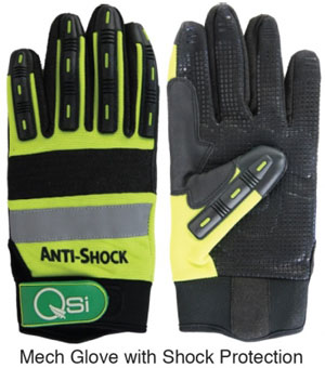 mech gloves with Shock protection