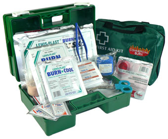 Commercial burn care first aid kit