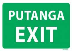 Ahi Putanga Fire Exit PVC Sign