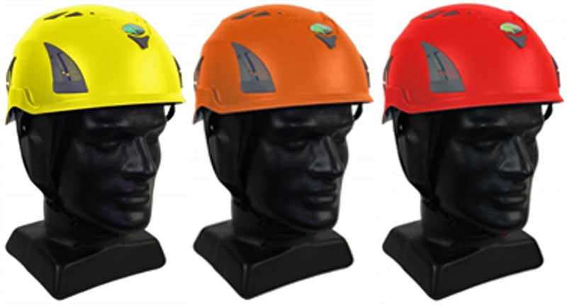 industrial safety helmets plugged