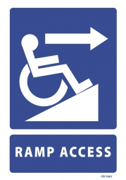 Ramp Access with Right Arrow sign