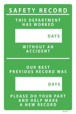 Safety Record Plant PVC sign