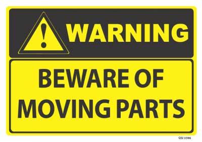 warning moving parts