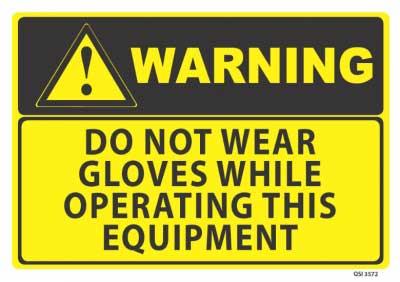 no gloves warning sign