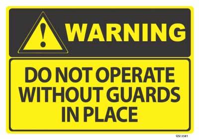 warning safety guard sign